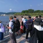 弥生橋にて