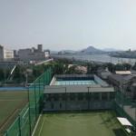 安芸の小富士、似島が見えました。